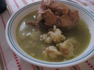Pozole - a common Mexican comfort food