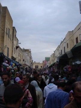 Street scene in Meknes medina