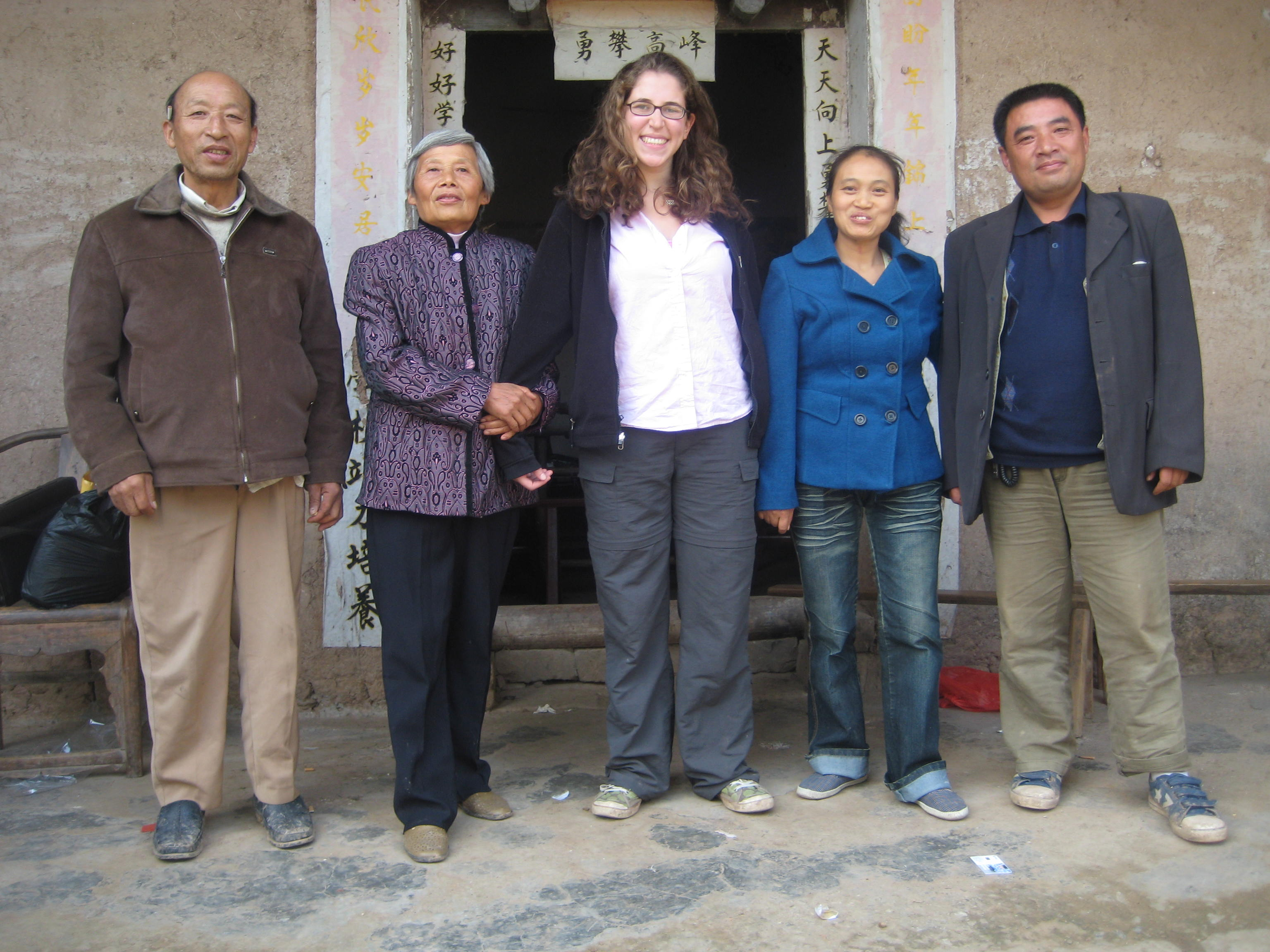 Visiting the home of microfinance clients in China-- I look like a giant in this country, don't I?