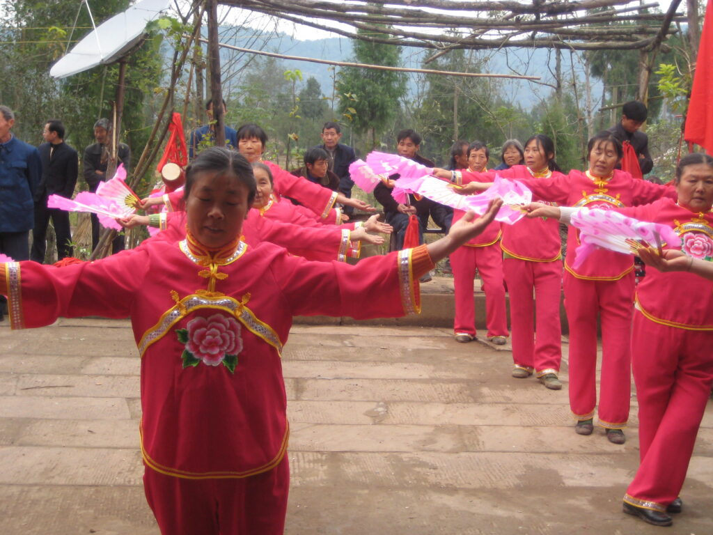 A common dance performance in a local village