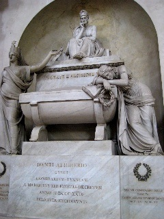 The king of the Italian language, Dante, rests in Santa Croce in Florence