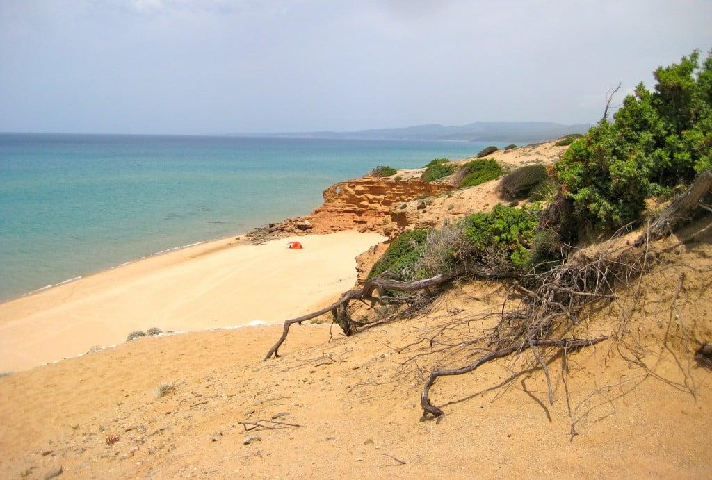 Scivu Beach on Sardinia's Costa Verde