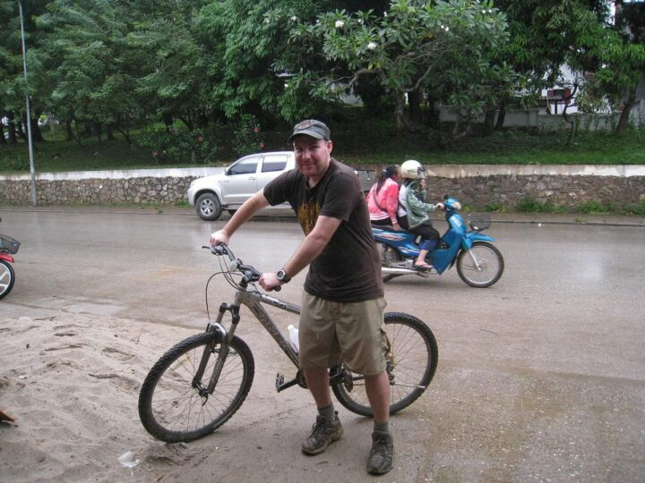Dave and his mountain bike