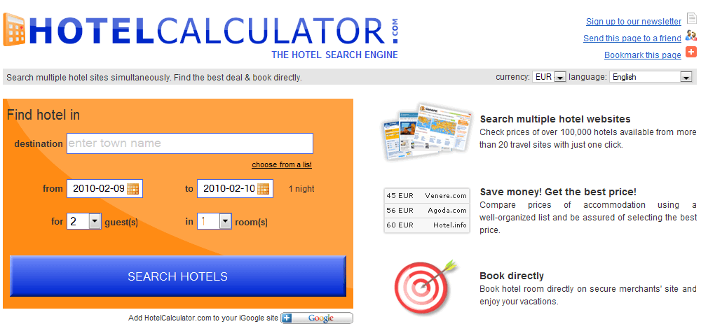 Hotel Calculator