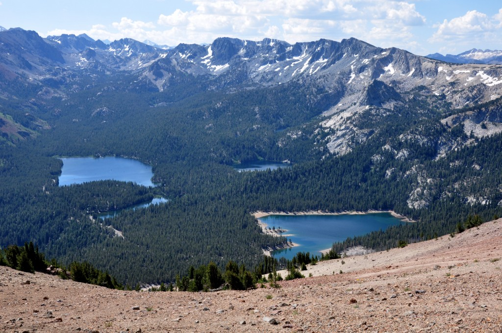 The view of Mammoth Lakes basin from atop Mammoth Mountain