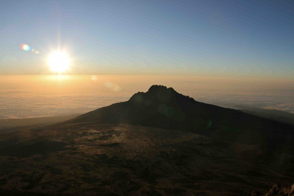 Sunrise from the summit of Mt. Kilimanjaro