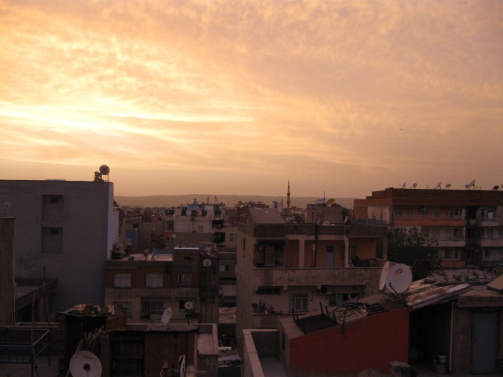 View from my Couchsurfing host's apartment in Batman, Turkey
