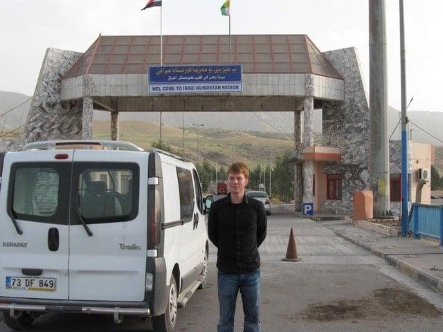 The author at the Turkey-Iraq border