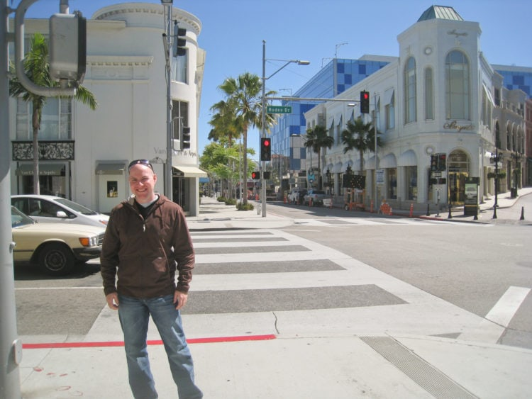 Posing on Rodeo Drive in Beverly Hills