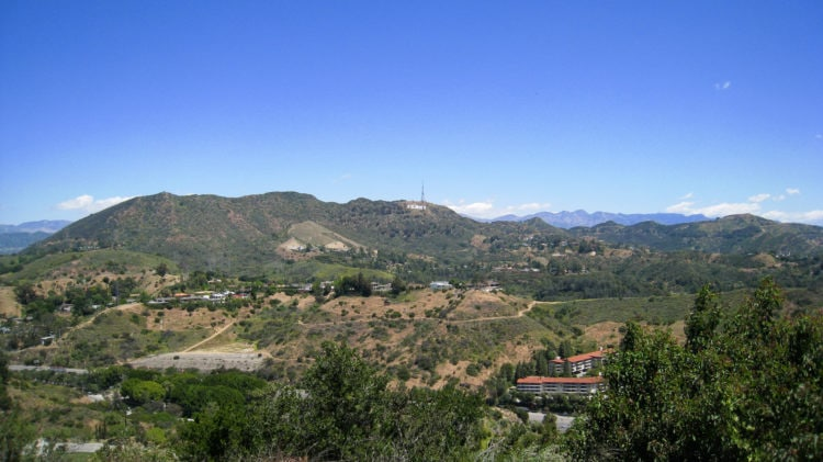 Hollywood Hills as seen from Mulholland Drive