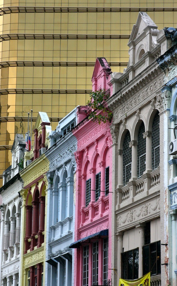 Old and new architecture in Kuala Lumpur.