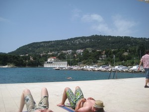 At the beach with the Brits (Split)