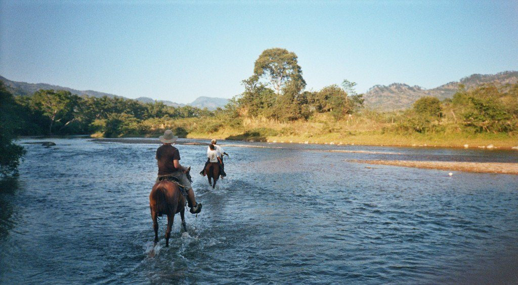 Horseback riding around Copan Ruinas.