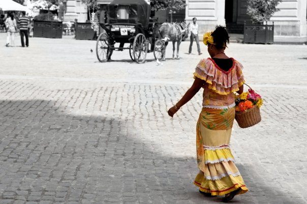Woman in downtown Havana (Photo: Troy Floyd)