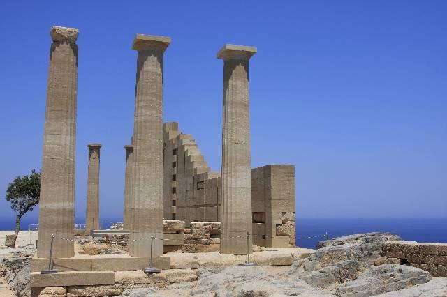 Lindos temple ruins