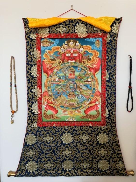 My Tibetan thangka hanging today