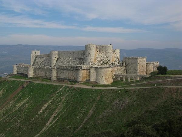 Crusader castle at Krak des Chevalier in Syria
