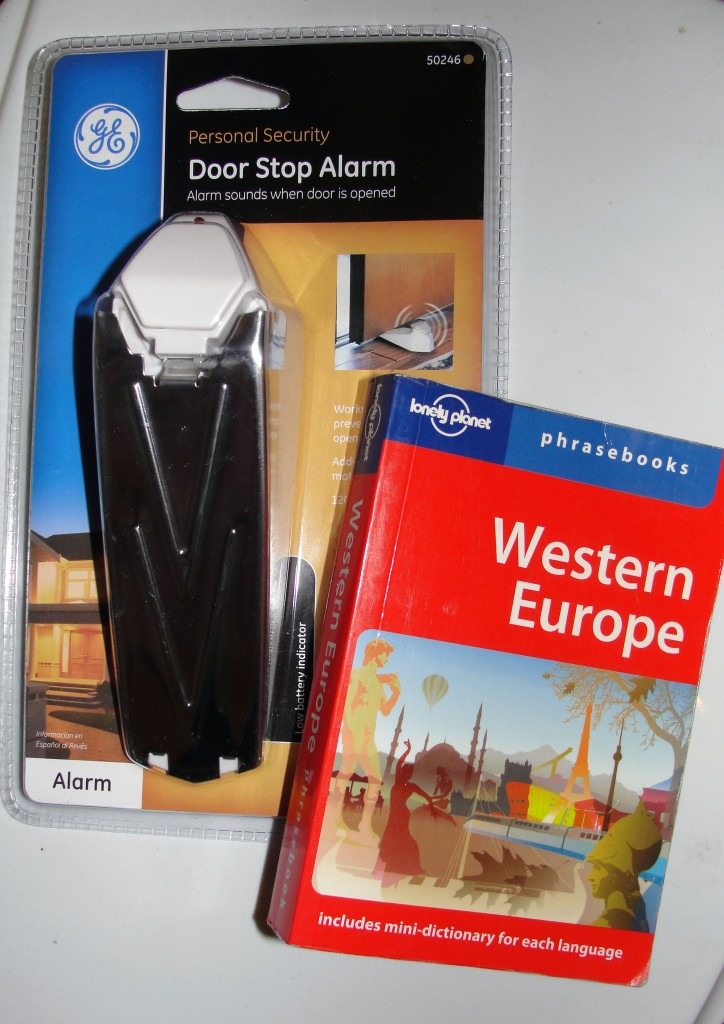 Doorstop alarm and phrasebook