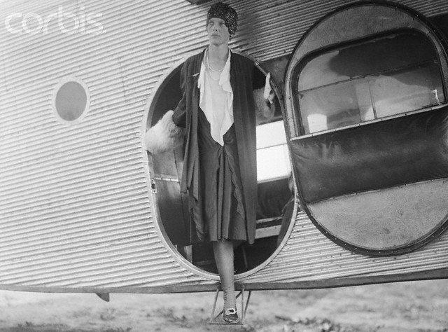 Amelia Earhart travelin' in style