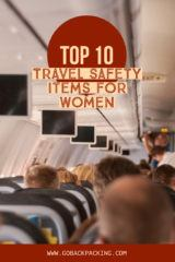 travel safety items for women
