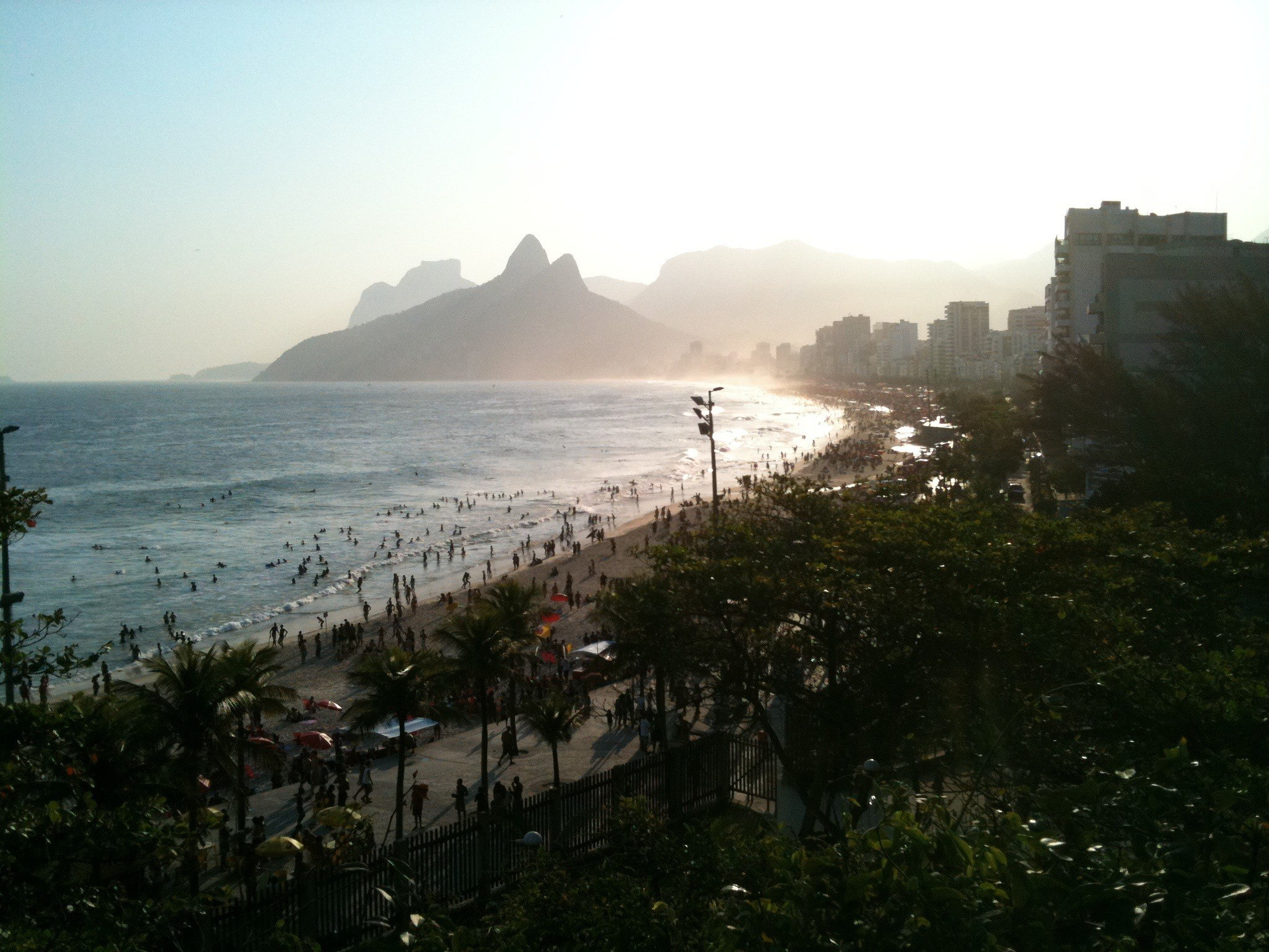 View of Rio from the skateboard bowl