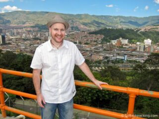 The author in Medellin