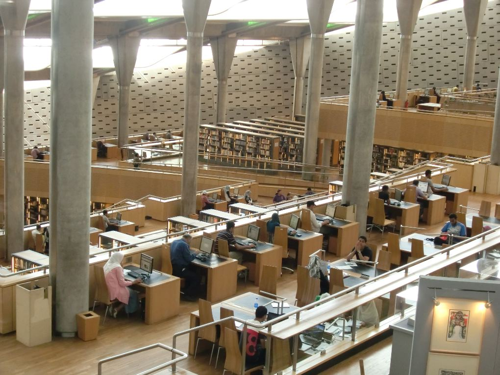 Alexandria library in Egypt