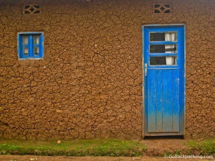 Blue door in Rwanda