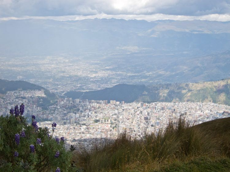 View of Quito atop the Teleferico - 4,100 meters above sea level