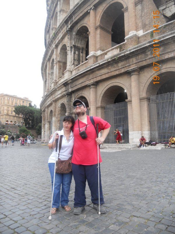 Tatiana and Tony outside the Colosseum