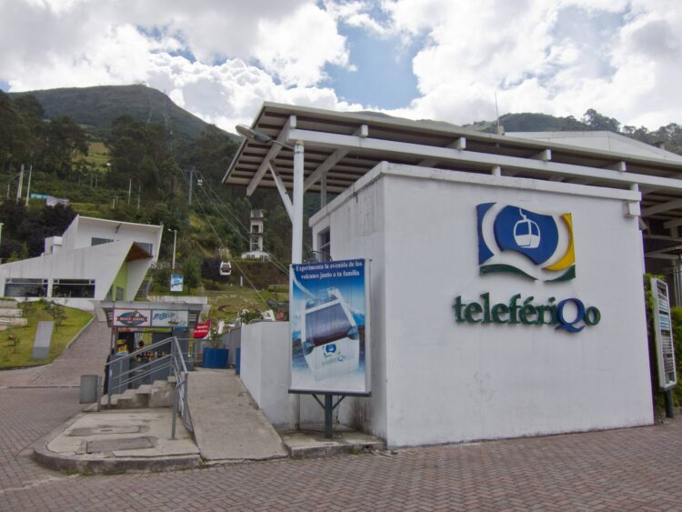 The base of the Quito Teleferico