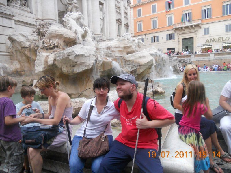 Tony and Tatiana at the Trevi Fountain