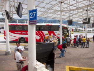 Bus station in Quito