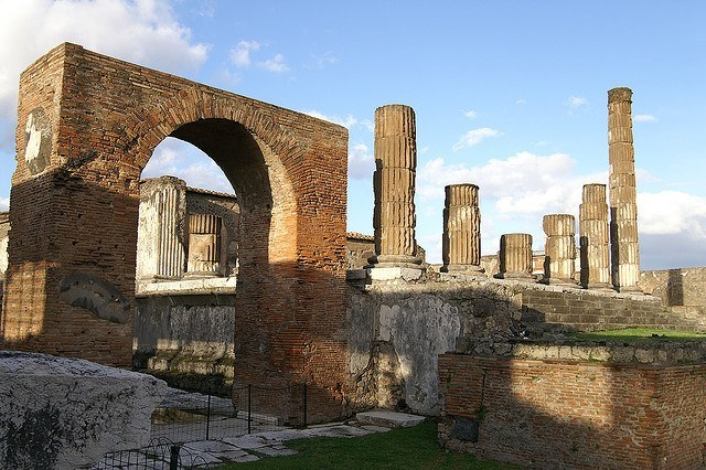 Ruins of Pompeii in Italy