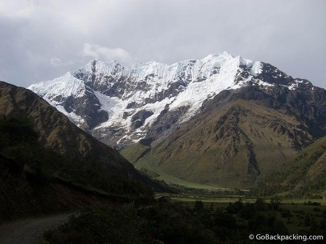 Umantay mountain as seen on Salkantay Trek
