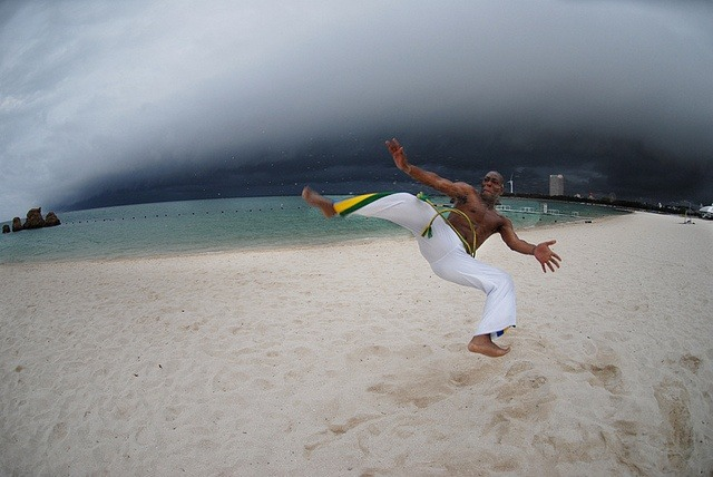 brazilian capoeira dancer
