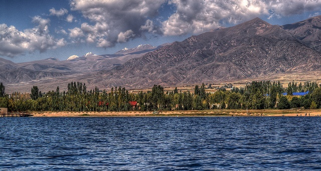 Lake Issyk-Kul on the North Side
