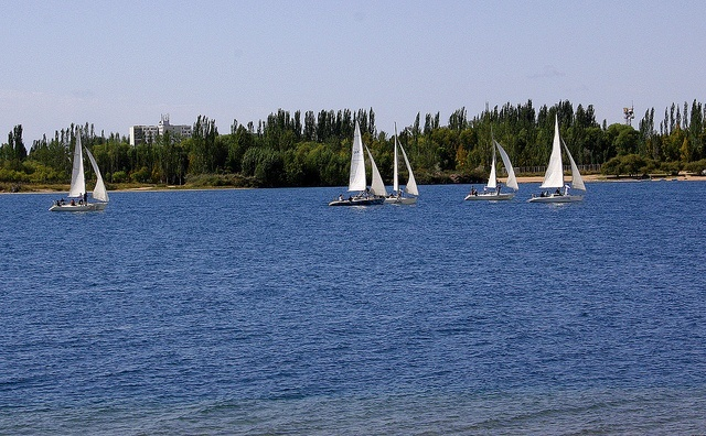 sailboats lake Issyk-Kul