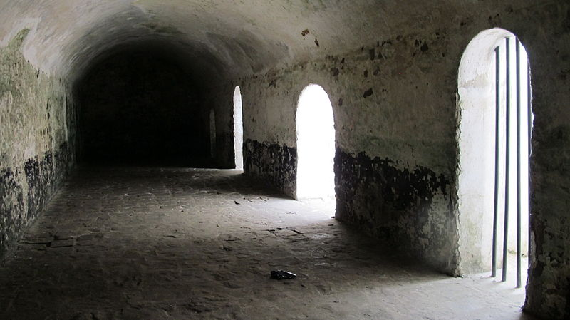 Holding cell in Elmina Castle