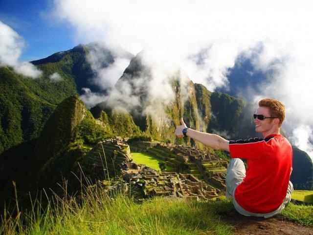 Nomadic Samuel at Machu Picchu, Peru