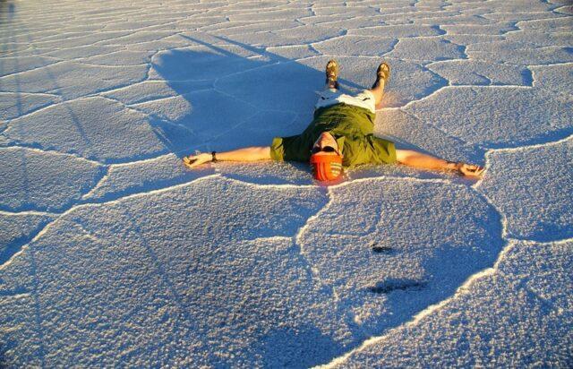 Nomadic Samuel at the Salt Flats in Northern Argentina
