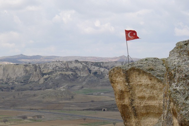 Turkish Flag in Cappadocia