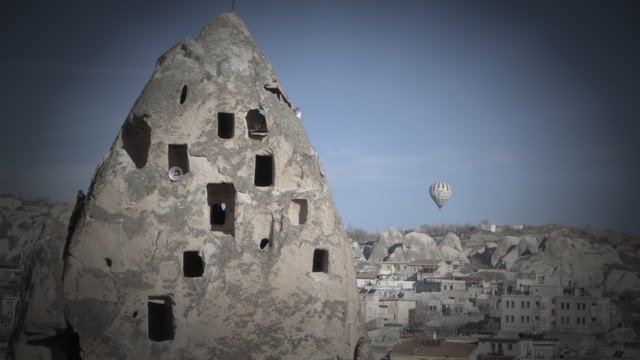 Goreme and hot air balloon