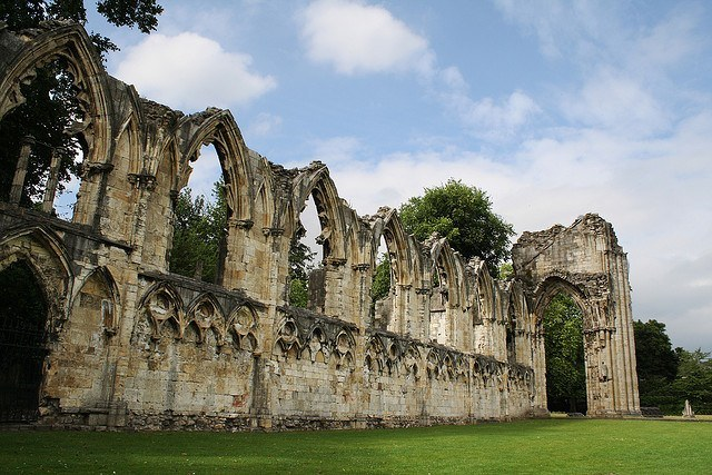 St Mary's Abbey in York (photo: Mrs Logic)