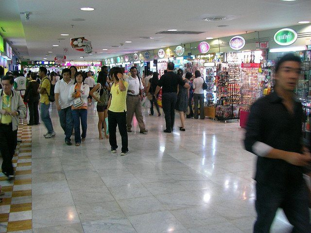 Inside MBK shopping center