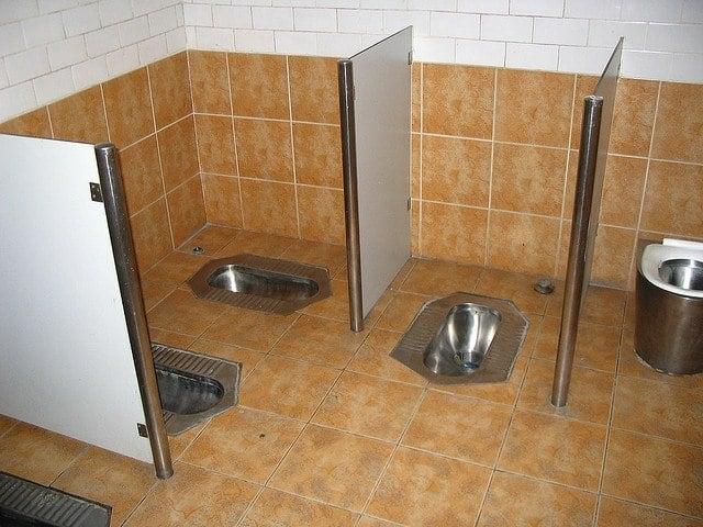 public squat toilets