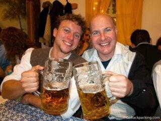 Drinking Oktoberfest beer