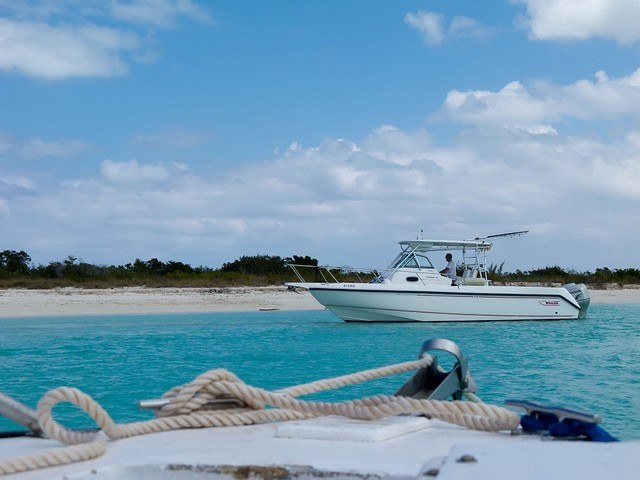 Boats in the Turks and Caicos (photo: Rian Castillo)