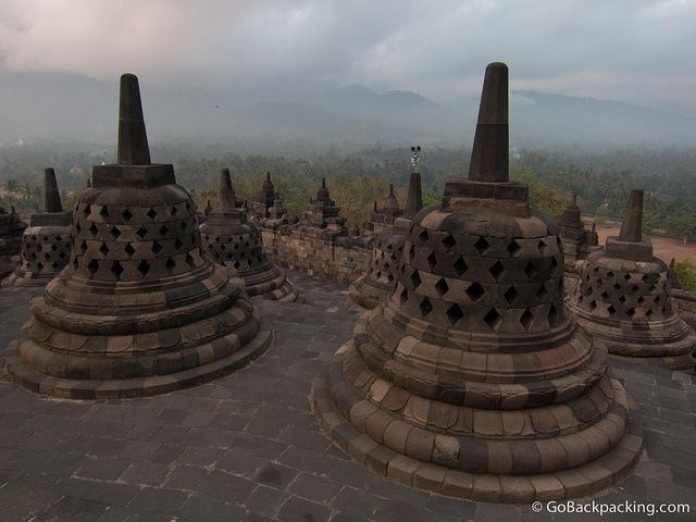 Dawn atop Borobudur Temple