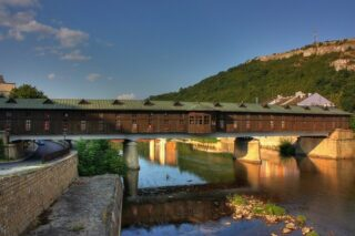Covered bridge at the Bulgarian city of Lovech